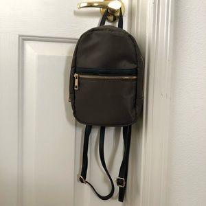 Olive green mini backpack